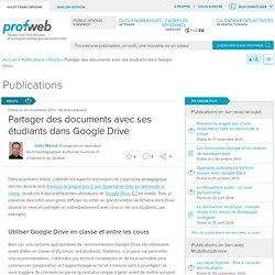 Partager des documents avec ses étudiants dans Google Drive