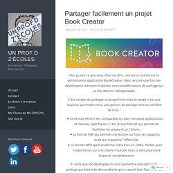 Partager facilement un projet Book Creator
