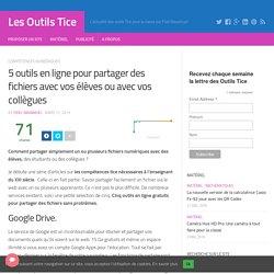 5 outils en ligne pour partager des fichiers avec vos élèves ou avec vos collègues – Les Outils Tice