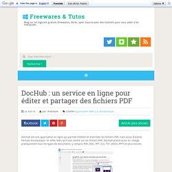 DocHub : un service en ligne pour éditer et partager des fichiers PDF