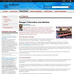 Partager l'information avec Netvibes