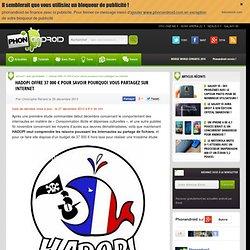 Hadopi offre 37 000 € pour savoir pourquoi vous partagez sur internet