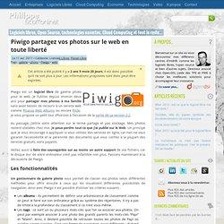 Piwigo, partagez vos photos sur le web