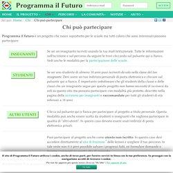 Chi può partecipare - ProgrammaIlFuturo.it