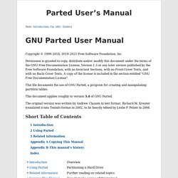 Parted User's Manual