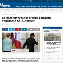 La France n'est plus le premier partenaire économique de l'Allemagne