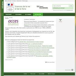 Un partenaire : Acces-Eduterre-Sciences de la vie et de la Terre-Éduscol