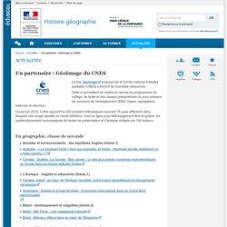 Un partenaire : GéoImage du CNES-Histoire-géographie-Éduscol