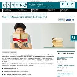 Canopé, partenaire du prix Goncourt des lycéens 2014
