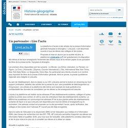Un partenaire : Lire l'actu-Histoire-géographie-Éduscol