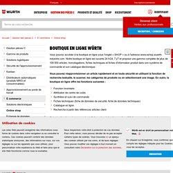 Online shop - Würth Industrie France - Partenaire de l'industrie, Management pièces C, Système Kanban