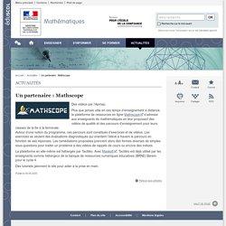 Un partenaire : Mathscope-Mathématiques-Éduscol