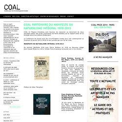 COAL partenaire du Manifeste du Naturalisme Intégral 1978-2013