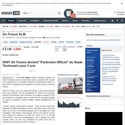 """HOP! Air France devient """"Partenaire Officiel"""" du Stade Toulousain pour 3 ans"""