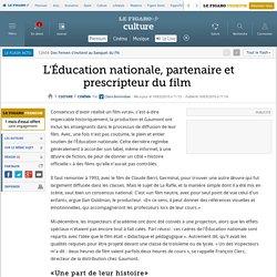 Cinéma : L'Éducation nationale, partenaire et prescripteur du film