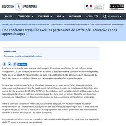 Une cohérence travaillée avec les partenaires de l'offre péri-éducative et des apprentissages-Éducation prioritaire