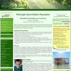 Formation Massage Ayurvédique Abyangha