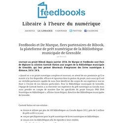 Feedbooks et De Marque, fiers partenaires de Bibook, la plateforme de prêt numérique de la Bibliothèque municipale de Grenoble