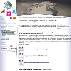 Partenaires des Antilles françaises et de Guyane - CAR-SPAW-RAC