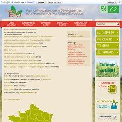 Les partenaires institutionnels du secteur bio