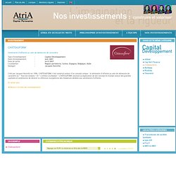 AtriA Capital Partenaires - Nos investissements