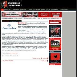 Club Affaires - Partenaires officiels - Armor Lux, partenaire officiel du Stade Rennais F.C.