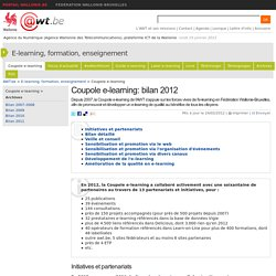 Coupole e-learning: l'approche partenariale porte ses fruits! (E-learning, formation, enseignement)