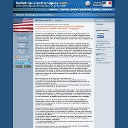 """03/30> BE Etats-Unis284> Un partenariat historique entre les Etats-Unis et l'Europe concernant les produits alimentaires """"biologiques"""""""