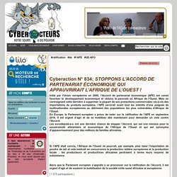 STOPPONS L'ACCORD DE PARTENARIAT ÉCONOMIQUE QUI APPAUVRIRAIT LAFRIQUE DE LOUEST ! cyberaction