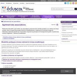 Partenariat avec les associations - Agrément des associations