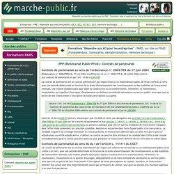 PPP Partenariat Public Privé Contrats de partenariat definition