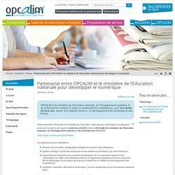 Partenariat entre OPCALIM et le ministère de l'Education nationale pour développer le numérique