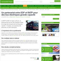 Un partenariat entre EDF et RATP pour des bus électriques grande capacité