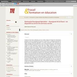Partenariat Enseignant Spécialisé – Enseignant de la Classe: un dispositif au service de nouveaux savoirs