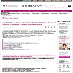 Éducation artistique et culturelle : partenariat avec les musées nationaux - Ministère de l'Education nationale