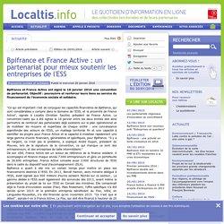 Bpifrance et France Active : un partenariat pour mieux soutenir les entreprises de l'ESS
