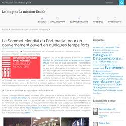 2015 - Le Sommet Mondial du Partenariat pour un gouvernement ouvert en quelques temps forts