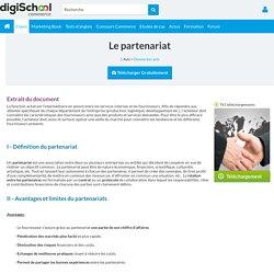 Le partenariat, exposé à télécharger gratuitement