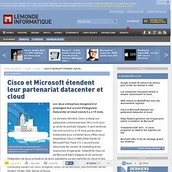 Cisco et Microsoft étendent leur partenariat datacenter et cloud