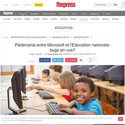Partenariat entre Microsoft et l'Education nationale: bugs en vue?