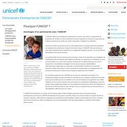 Avantages d'un partenariat avec l'UNICEF