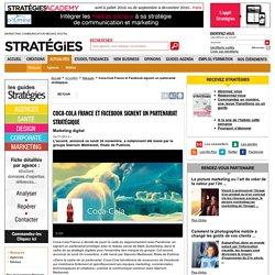 Coca-Cola France et Facebook signent un partenariat stratégique