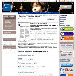Partenariats en Méditerranée / A l'international / Solidarité avec les personnes vulnérables