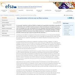 EFSA 30/10/14 Des partenariats renforcés avec les États membres