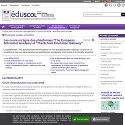 """Partenariats scolaires et mobilités - Cours en ligne du""""European School Academy"""" et de la """"School Education Gateway"""""""
