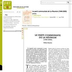 Le parti communiste de La Réunion (1946-2000)