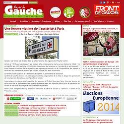Une femme victime de l'austérité à Paris