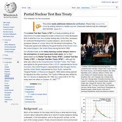 Partial Nuclear Test Ban Treaty