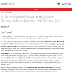 La UGR participa en el Campus Inclusivo Europeo. Innet Campus, 2017