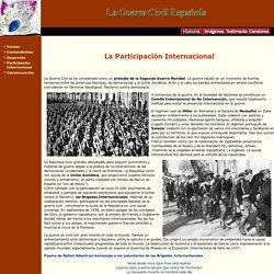 La Guerra Civil Española (La participación internacional)